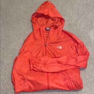 The North Face pink windbreaker never worn